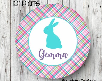 Easter Plate, Personalized Melamine Plate, Personalized Easter Plate, boy Plate, Bunny Plate, Personalized Plate, Kids Plate, Melamine Plate