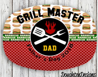 Father's Day Platter, Personalized Platter, Serving Platter, Serving tray, Monogrammed platter, Design your own platter, Father's day gift
