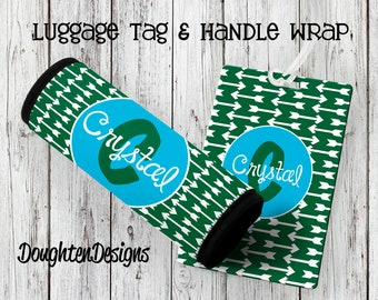 SALE Luggage Tag, Monogram Bag Tag, Luggage Wrap, Luggage Tag, Personalized luggage tag, Personalized luggage wrap, Bag tag