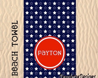 Personalized beach towel, Personalized pool towel, Monogram towel, custom made towel, Lightweight beach towel