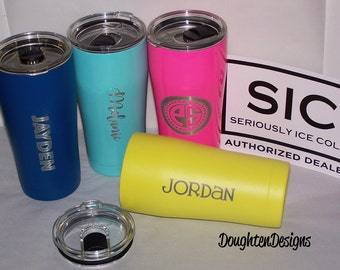 20 oz SIC cup, Laser engraved SIC tumbler, Stainless Steel Tumbler, Powder coated tumbler, Personalized, Monogrammed Sic Cup