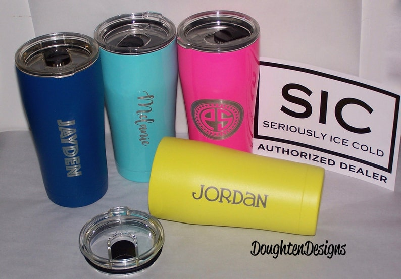 f0e267e1542 20 oz SIC cup, Laser engraved SIC tumbler, Stainless Steel Tumbler, Powder  coated tumbler, Personalized, Monogrammed Sic Cup
