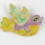 Ceramic Wall Hanging Bird by Cathy Kiffney