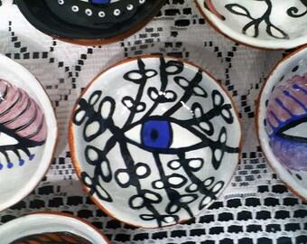 Eye Bowl, pinch pot, little dream bowl