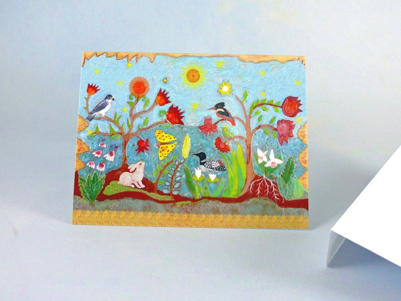 Secret Garden Notecards Greeting Cards Folded Premium glossy stationary with Envelopes