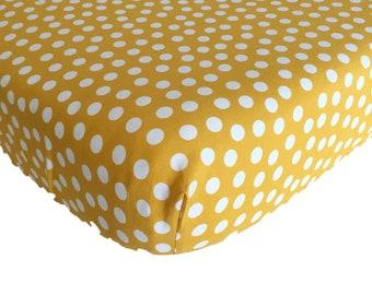 1074106d0ca93 Crib sheet mustard   Etsy