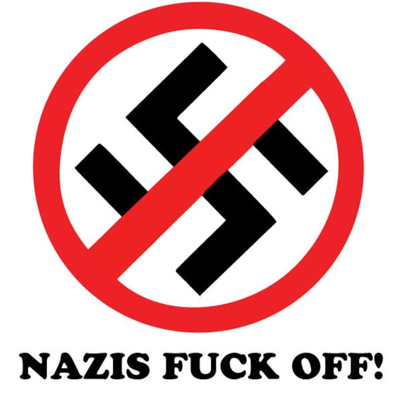 No Nazis Allowed Vinyl Vinyl Decal Wall Laptop Bumper Sticker 5