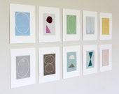 Set Of Original Prints - Set Of Handmade Prints - Set Of Abstract Prints - Set Of Minimal Prints - Emma Lawrenson