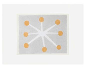 Abstract minimal spotty screenprint, handmade original art, pretty colours, gift for her, organic, modern by Emma Lawrenson