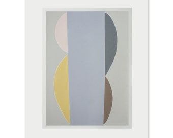 Screenprint, Abstract composition, large original abstract art, Mid Century Modern, living room decor by Emma Lawrenson