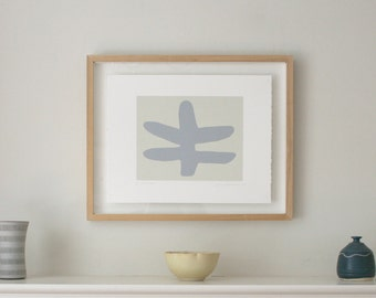 Small abstract print, original Print, modern screenprint, inspired by Matisse. Abstract modern art by Emma Lawrenson