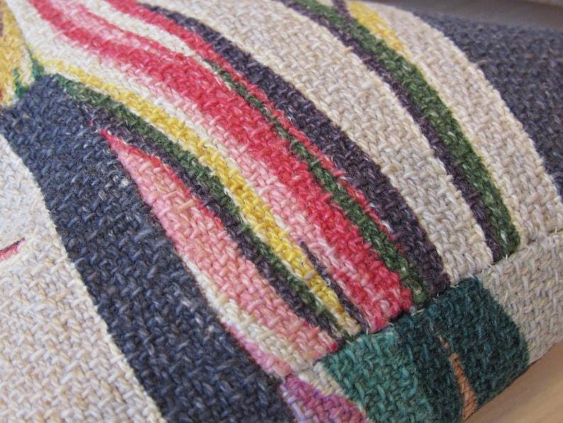 Vintage Barkcloth Quilt Mid Century Decor Heart Bowl Filler