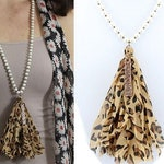 Leopard Blessed Tassel Necklace - 30""