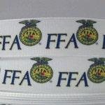 "Stock show FFA Grosgrain 7/8"" inch Ribbon"
