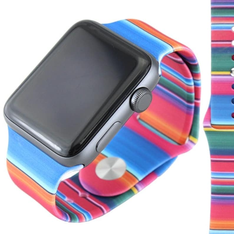 Serape Leopard Cactus Apple Watch Band fits 38MM or 42MM image 0