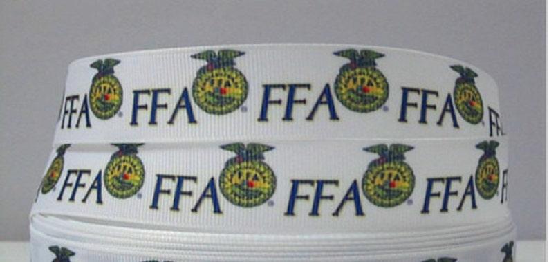 Stock show FFA Grosgrain 7/8 inch Ribbon image 0