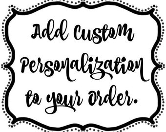 Add Personalization