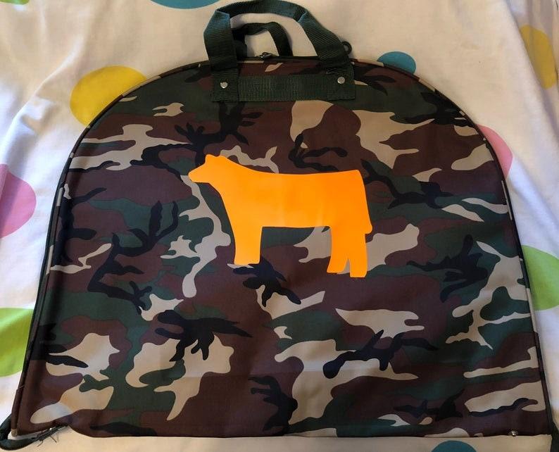 Camo Stock show Animal FFA/4-H Garment Bag image 0