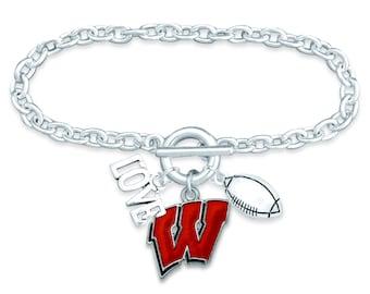 Wisconsin Badgers Bracelet or Earrings