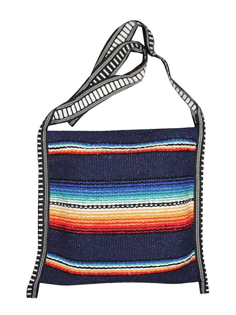 Mexican Style Falsa Blanket Tote Bag Messenger image 0