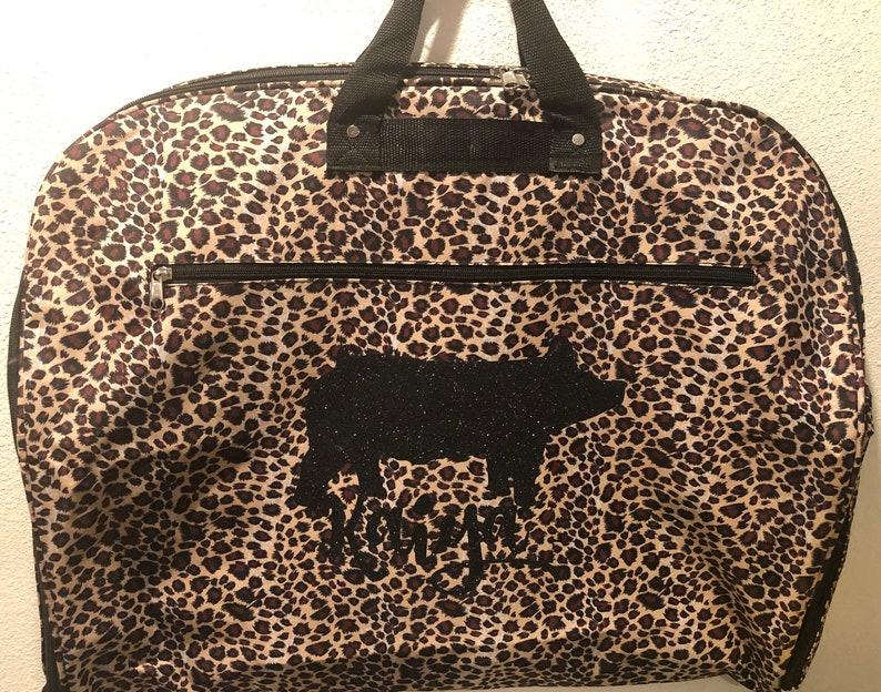 Leopard Stock show Animal FFA/4-H Garment Bag image 0