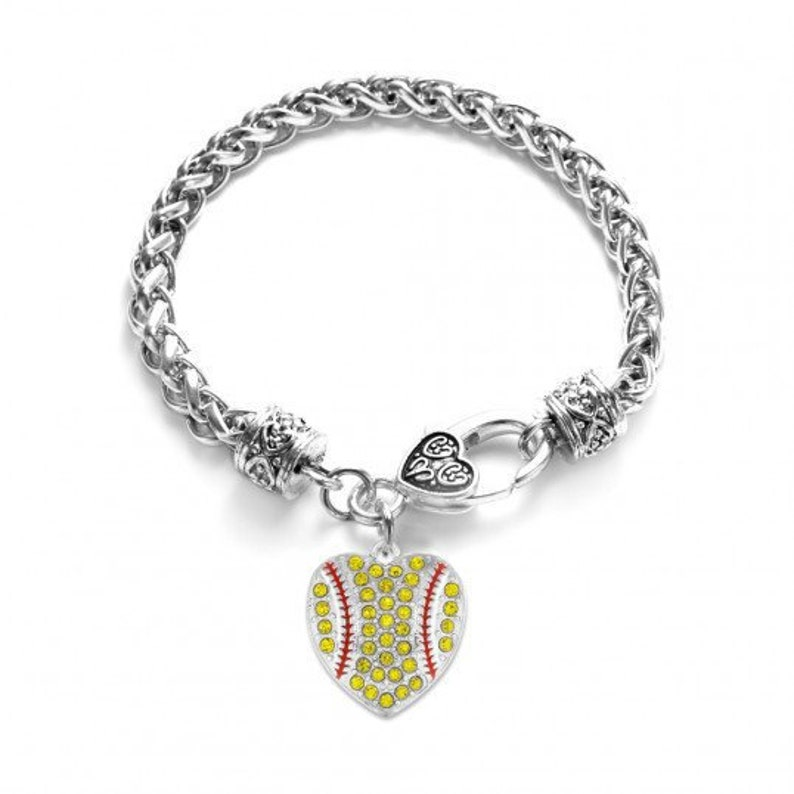 7 1/2 Lobster Claw Softball Bracelet image 0