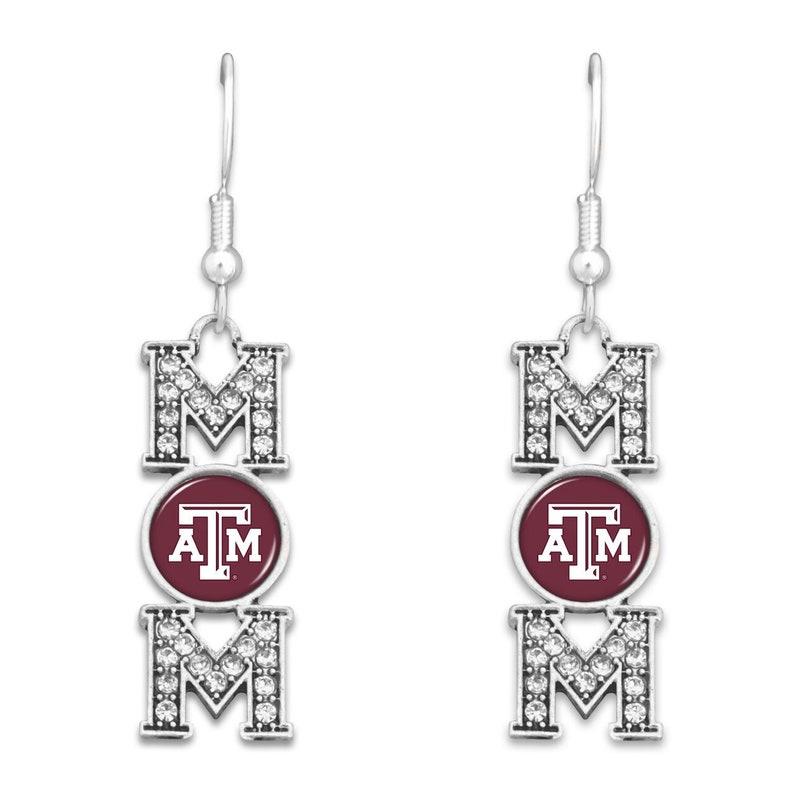 Texas A&M Aggies Earrings MOM image 0