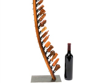 "POMA - ""Cobra"" - Large Wine Bottle Stopper Holder Made from Retired Napa Wine Barrel - 100% Recycled"