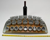 Wine Barrel Stave Magnetic Spice Rack - Kirpi - Made from reclaimed California wine barrels - 100% Recycled & Free US Shipping!