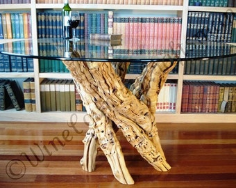 Old Vine Grapevine Coffee Table Made From Reclaimed Napa Etsy - Grapevine coffee table