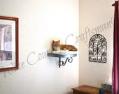 Wine Barrel Wall Hanging Cat Bed / Wall Shelf - STRATO - 100% Recycled + Reclaimed + Free Shipping! (US Only)
