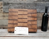 Wine Barrel Cutting Board 0549 - Made from reclaimed California wine tanks - 100% Recycled and Free Shipping (US Only)!