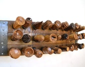 Wine Bottle Wall Mounted Stopper Display - Zedan - Made from reclaimed California wine barrel - 100% Recycled and Free Shipping (US Only!)!