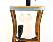 NAPA Collection - Rettangolo - Wine Barrel Side Tasting Table / Made from reclaimed Napa wine barrels - 100% recycled!