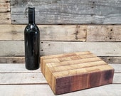 Wine Barrel Cutting Board 0559 - Made from retired Opus 1 California wine tanks - 100% Recycled + Free US Shipping!