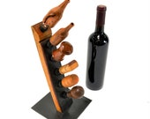 """POMA - """"Baton"""" - Wine Bottle Stopper Holder Made from Retired Napa Wine Barrels - 100% Recycled!"""