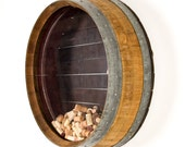 "Wall Mounted Wine Barrel Cork Display - ""Kala"" made from retired Napa wine barrels - 100% Recycled!"