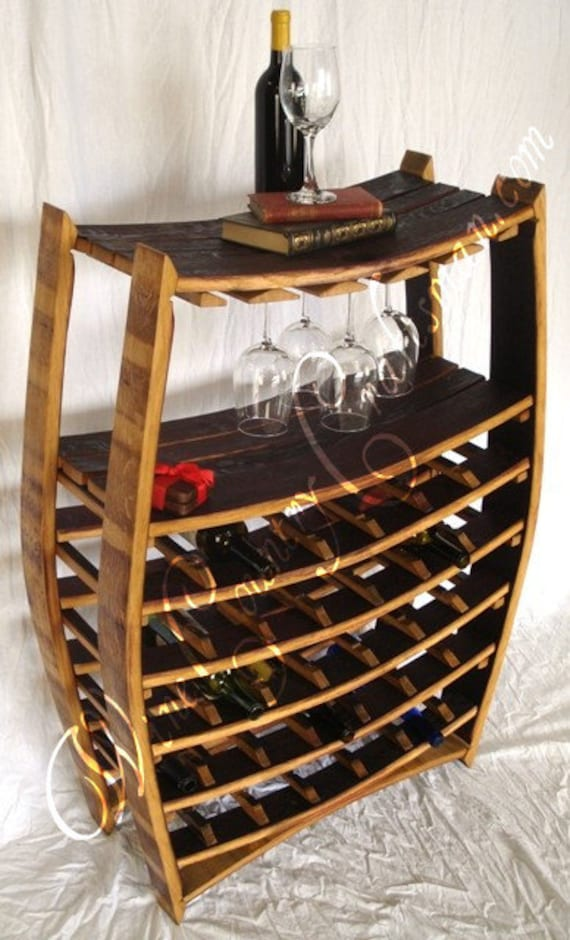 Wine Rack Collection Chablis Large Wine And Glass Rack Etsy