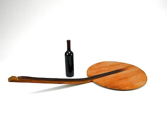 "Wine Barrel Pizza Paddle / Peel ""Veslo"" - made from retired CA wine barrels - 100% Recycled!"