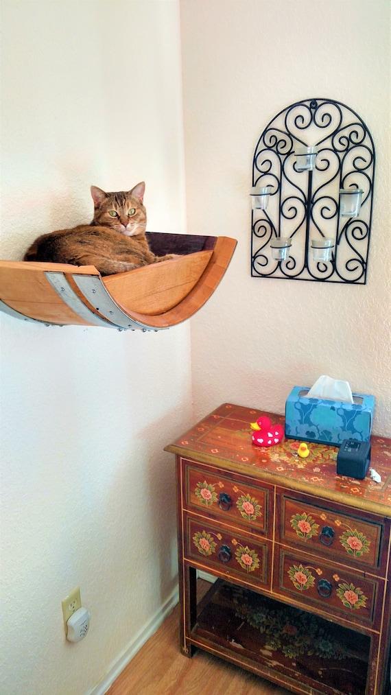 Wine Barrel Wall Hanging Cat Bed Birala Made Etsy