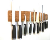 """Wine Barrel Stave Wall Magnetic Knife Holder """"BELEDA"""" made from retired Napa wine barrels - 100% Recycled!"""