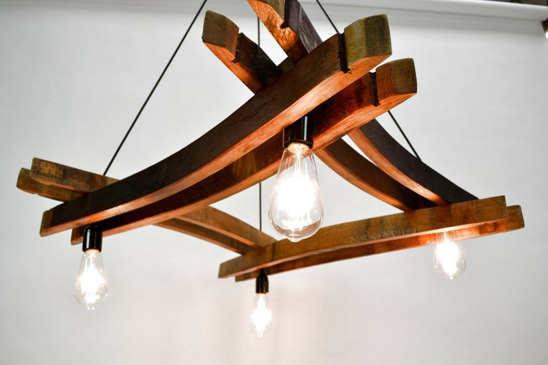 Charmant Wine Barrel Stave Chandelier   Artessa   Made From Reclaimed California  Wine Barrels   100% Recycled And Free Shipping (US Only)!