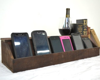 """Wine Barrel Charging Station """"Hawthorne"""" Made from retired California wine barrels - 100% Recycled + Free US Shipping!"""