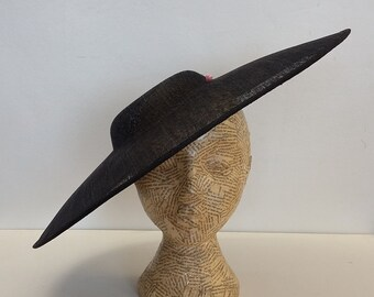 cd4604eff1f Large Oval hat - Black - millinery supplies