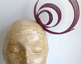 Sinamay Trim  Small - Burgundy - millinery, fascinators, hats, races, weddings