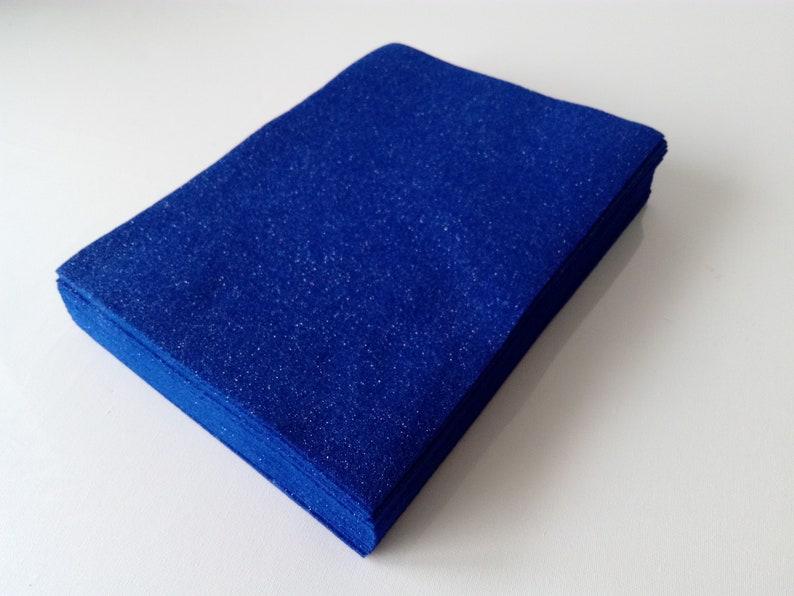 DESTASH Eco felt in Glitter Royal Blue Crafting supplies