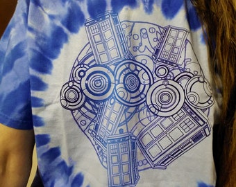 A shirt for a Doctor who travels space and time.