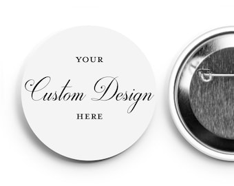 CUSTOM DESIGNED 50 pack of Social Distancing Buttons - Wedding Buttons - Social Distance Wedding - Corporate Buttons