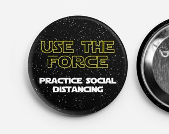 10 pack of Star Wars Buttons - Social Distancing Buttons - Wedding Buttons - Social Distance Wedding - Corporate Event - Star Wars