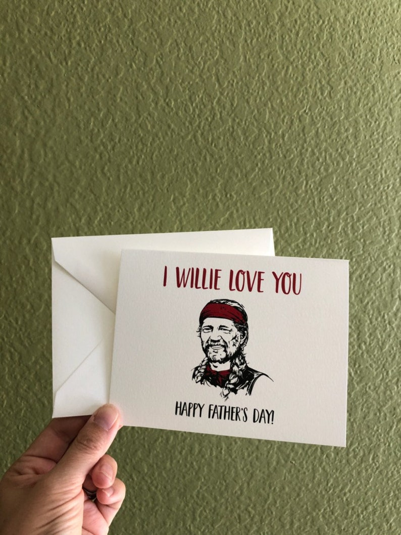 Funny Father's Day Card for Dad  I Willie Love You  image 0